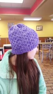 Basia hat inside out