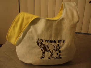 Stress Zebra Knot Bag