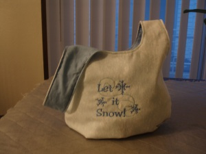 Let It Snow Knot Bag