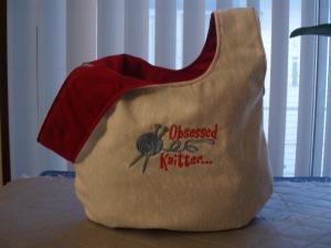 Obsessed Knitter Knot Bag