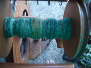 Spinning Rolags for Tour De Fleece