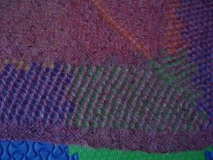 Close up of lacework for Heat Advisory Shawl
