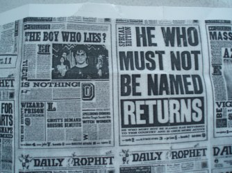 Daily Prophet Newspaper from Harry Potter