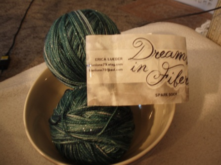 Dreams in Fiber sparkle socks yarn
