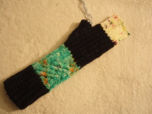 Te Ara Fingerless Mitts progress 2