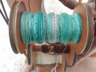1st spool of singles for rolag