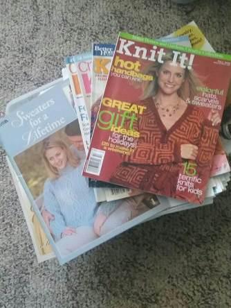 FreeCycle knitting patterns haul