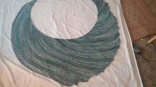 Changing Staircases Shawl finished 1