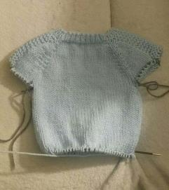 Flax baby sweater 1