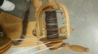 Spinning at the fiber fair 3-7-2020 a
