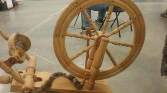 Spinning on my Rick Reeves at firber fair 3-7-2020