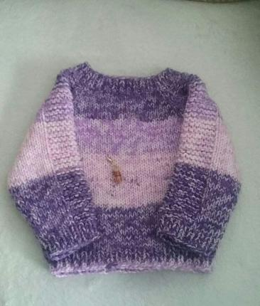 Flax baby sweater 4b