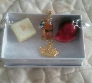 New Progress Keeper - cherry cordial honey with bee lemon bar and crown stitch marker